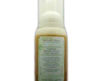 Calming Manuka Foam Facial Cleanser 8 oz - Sensitive Skin Face Wash - Organic Face Wash - All Naural