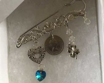 Something Old Something New …. Bridal Pin Keepsake/Wedding Gift
