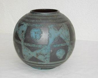blue Carstens Ankara ball vase --- height 17 cm.  Diameter 18.5 cm.