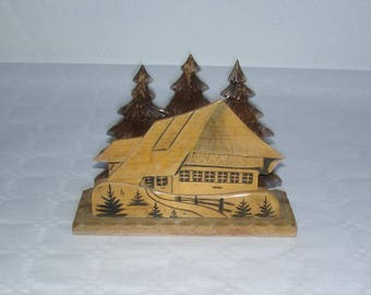 Vintage Letter Stand from the Black Forest around 1950 of wood