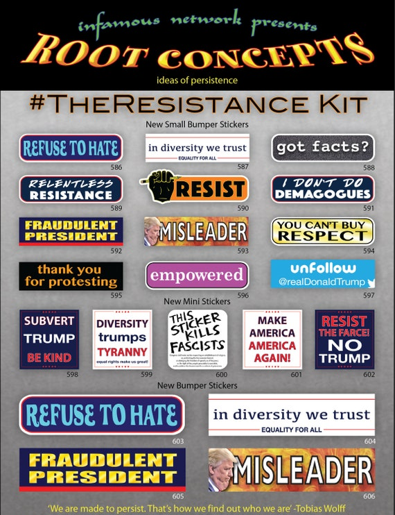 Anti Trump Bumper Sticker Decal Not My President Resist PINK Oval 5 Pack DND
