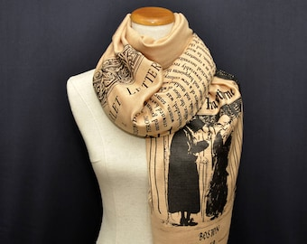 The Scarlet Letter by  Nathaniel Hawthorne Scarf Shawl Wrap, book scarf, Literary scarf, Classic Literature