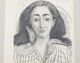 e2b86ea6091 RARE Original Picasso Lithograph by Mourlot   Portait of Jaqueline