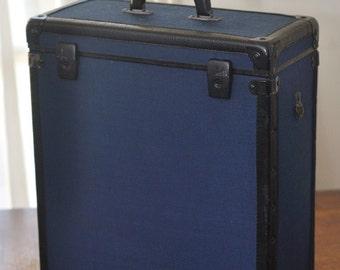 Vintage Blue Industrial Suitcase Luggage Trunk Case Storage Box Holder & Suitcase storage box | Etsy