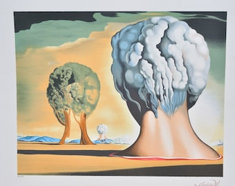 Salvador Dali ''Three Sphinxes of Bikini'', Limited Edition Lithographie, #241/295, Signed