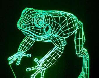 Lamp 3D design: frog