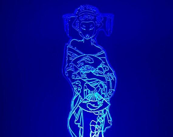 Lamp 3D motif: geisha