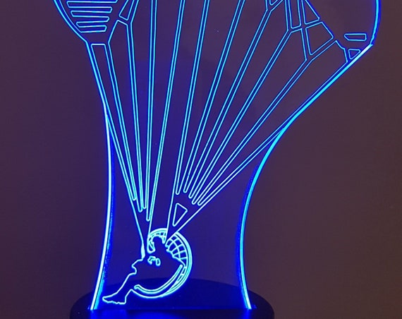 PPG - Mood lamp 3D led, laser engraving on acrylic, power by USB cable or batteries
