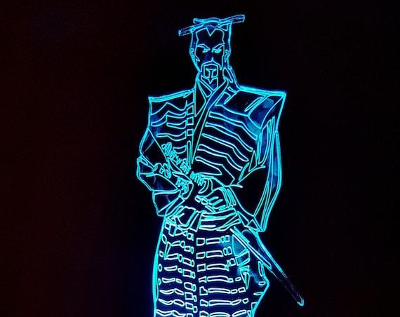 Lamp 3D pattern: Samurai