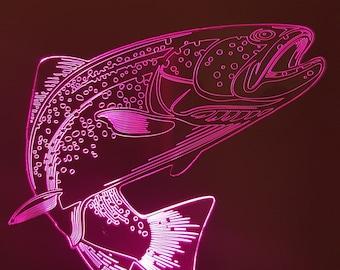 Lamp 3D pattern: trout