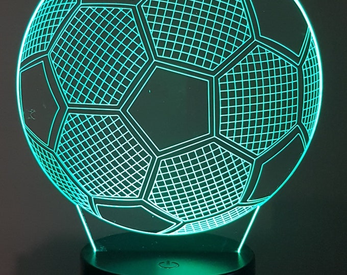 Lamp 3D design: football