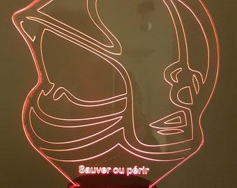 Lamp 3D pattern: helmet F1 Pompiers de Paris