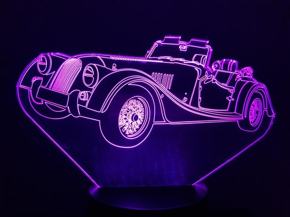 MORGAN - Mood lamp 3D led, laser engraving on acrylic, power by USB cable or batteries