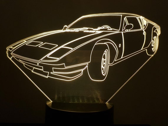 DETOMASO - Mood lamp 3D led, laser engraving on acrylic, usb cable or battery power.