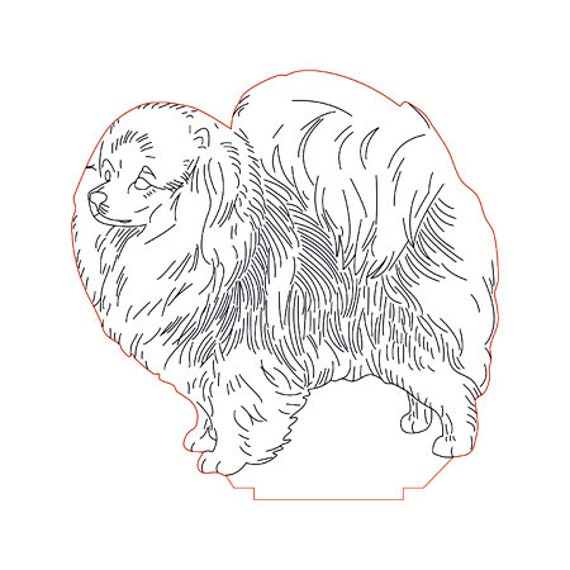 Lamp 3D pattern: Pomeranian dog