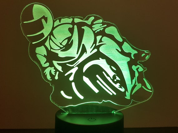 MOTORCYCLE turning - mood lamp 3D led, laser engraving on acrylic, usb cable or battery power.