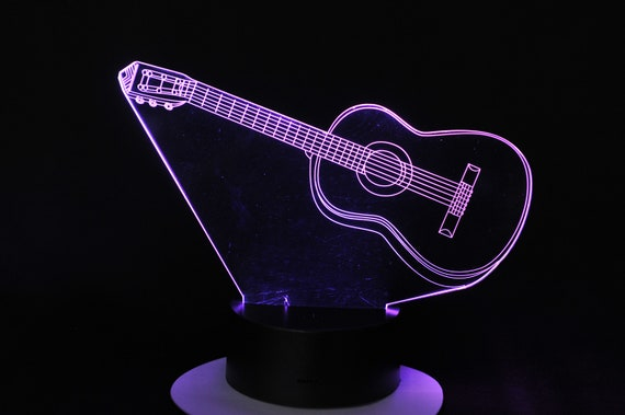 Lamp 3D design: guitar