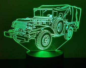 Lamp 3D design: military WC52 Dodge