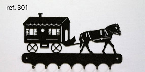 Hangs 26 cm pattern metal keys: horse trailer