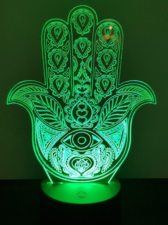 Lamp 3D design: Hamsa