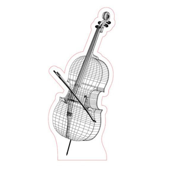 Lamp 3D design: cello