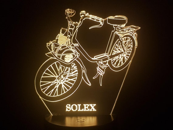 MOPED - Mood lamp 3D led, laser engraving on acrylic, power by USB cable or batteries