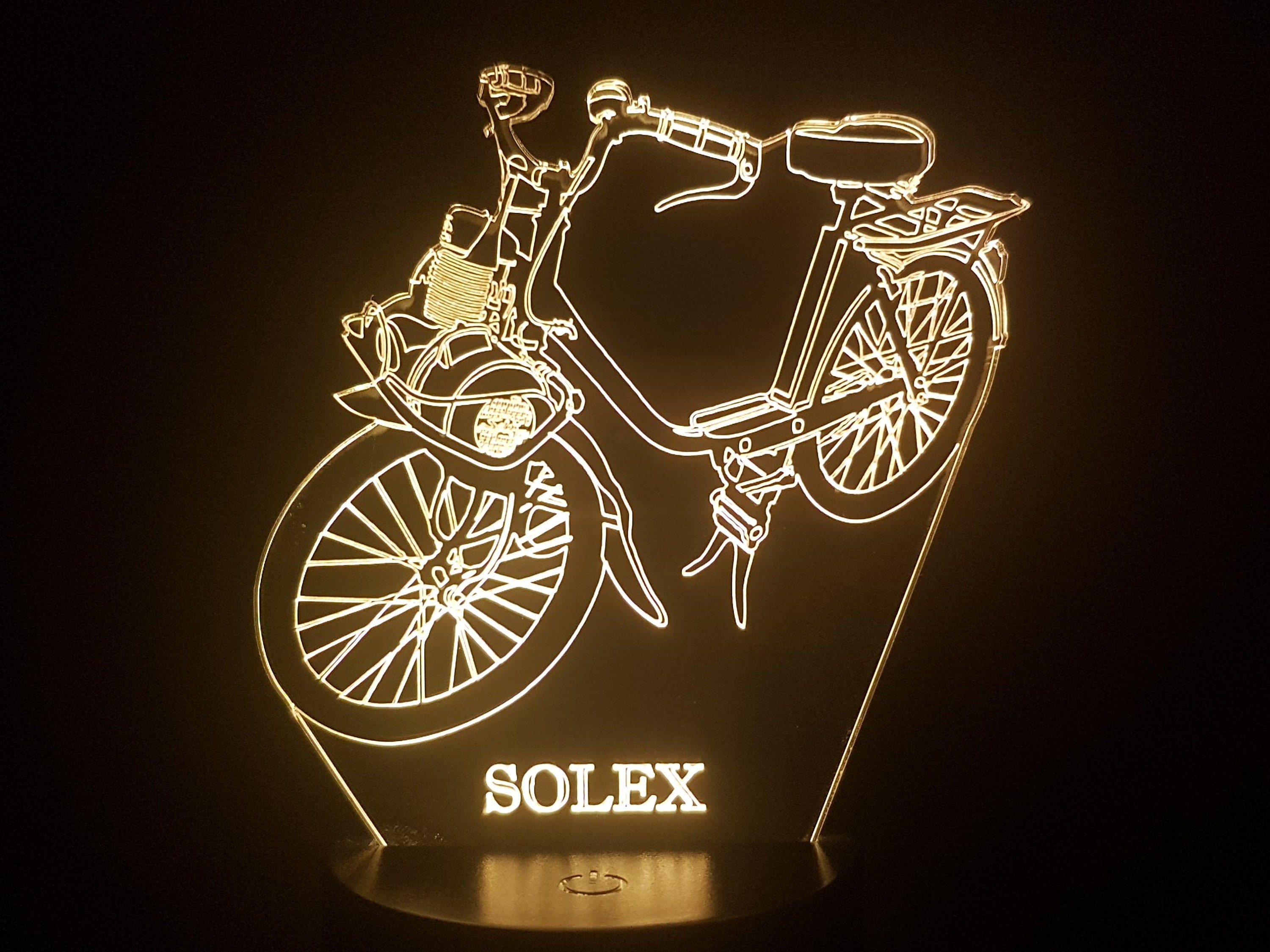 MOPED - Mood lamp 3D led, laser engraving on acrylic