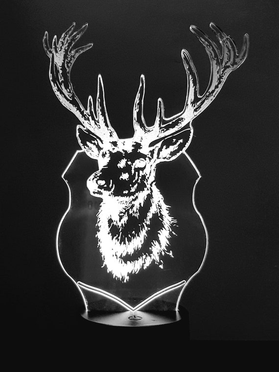 Lamp 3D pattern: deer trophy