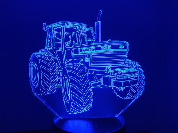 TW 25 FORD tractor - Mood lamp 3D led laser engraving on acrylic, power by USB cable or batteries