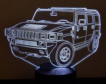 Lamp 3D pattern: Hummer H2