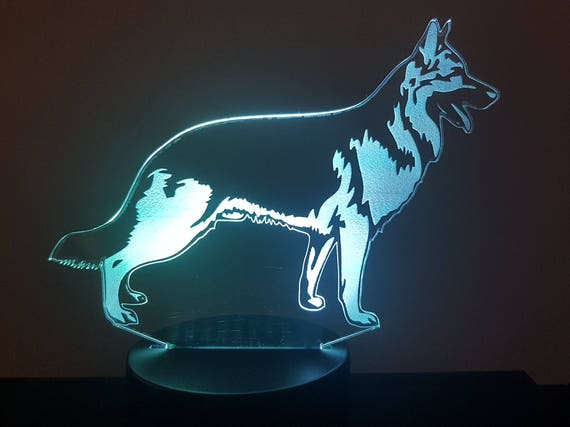 Lamp 3D pattern: German Shepherd