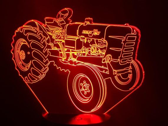 TRACTOR SOMECA SOM 40 - Mood lamp 3D led, laser engraving on acrylic, usb cable or battery power.