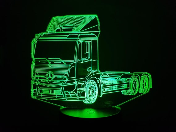 MERCEDES truck 2 - mood lamp 3D led, laser engraving on acrylic, power by USB cable or batteries