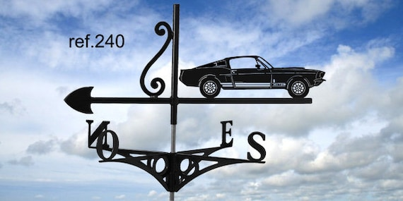 Ford mustang GT 500 rooftop weathervane