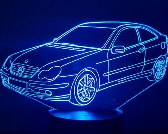 Lamp 3D pattern: mercedes CL 203