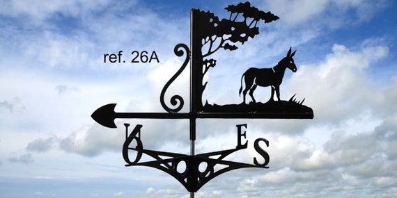 Weathervane with roof donkey