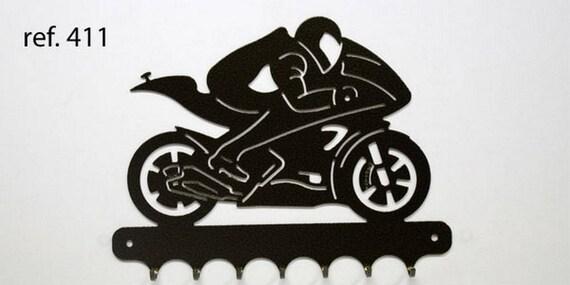 Hangs 26 cm pattern metal keys: motorcycle and driver