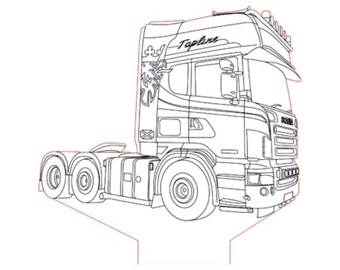 "Lamp 3D pattern: truck ""Scania"""
