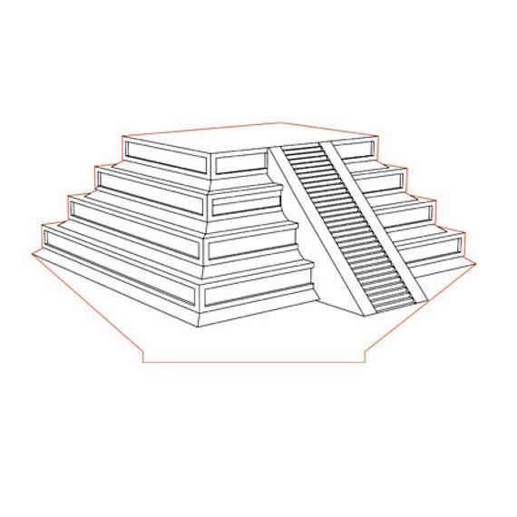 Lamp 3D design: Mexico Theotihucan