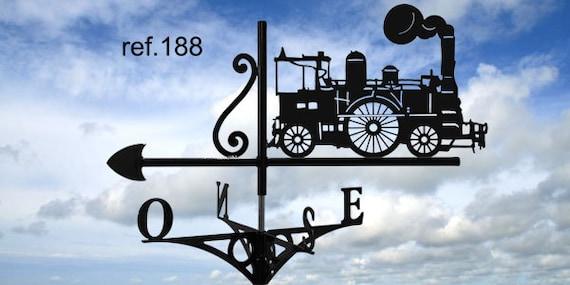 locomotive weathervane with roof
