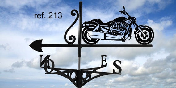 Weathervane with roof vroad harley motorcycle
