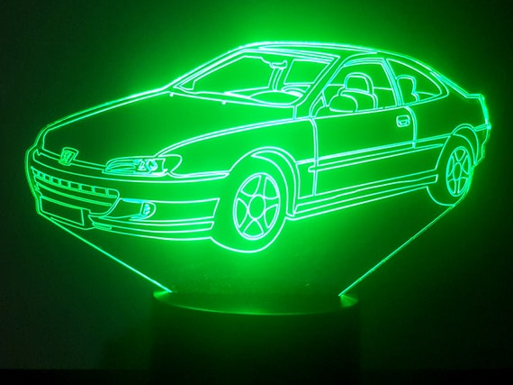 PEUGEOT 406 Cup - Mood lamp 3D led, laser engraving on acrylic, power by USB cable or batteries