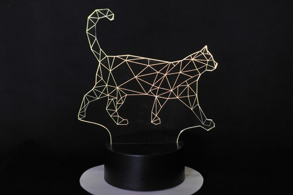 Lamp 3D pattern: Wired cat