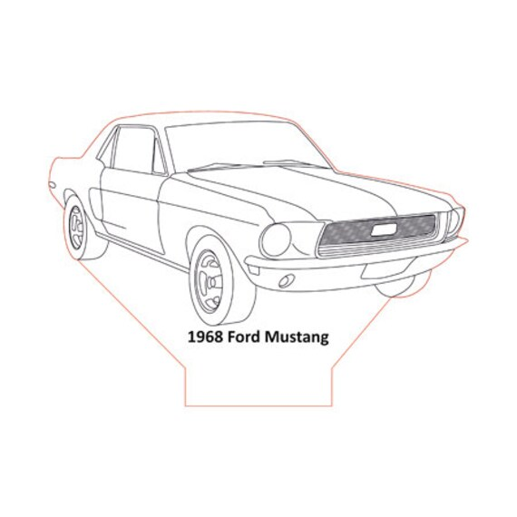 Lamp 3D design: Ford Mustang 1968