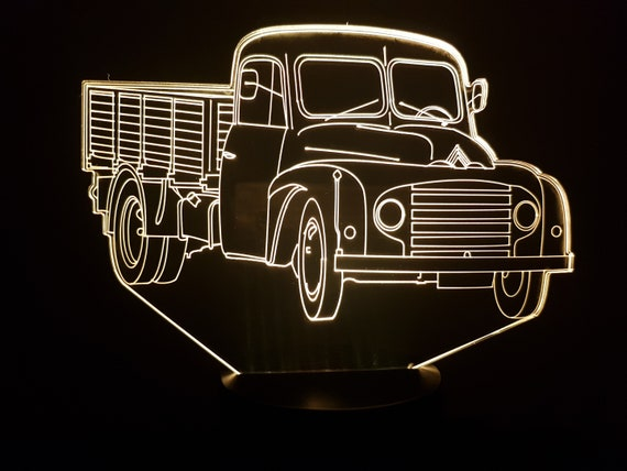 Citroen U23 - Mood lamp 3D led, laser engraving on acrylic, usb cable or battery power.