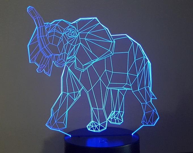 Lamp 3D design: elephant