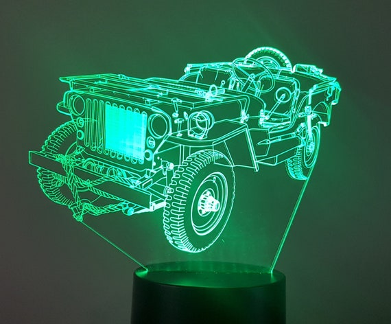 Lamp 3D pattern: jeep