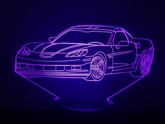 Lamp 3D design: Chevrolet Corvette 2004