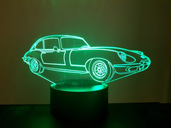 Lamp 3D design: Jaguar e type