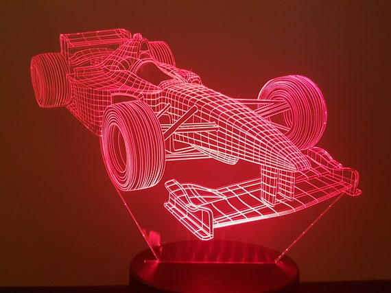Formula 1 - F1 - mood lamp 3D led, laser engraving on acrylic, usb cable or battery power.